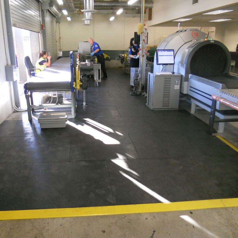 SmartCells custom anti-fatigue flooring is used by the TSA to keep agents comfortable.