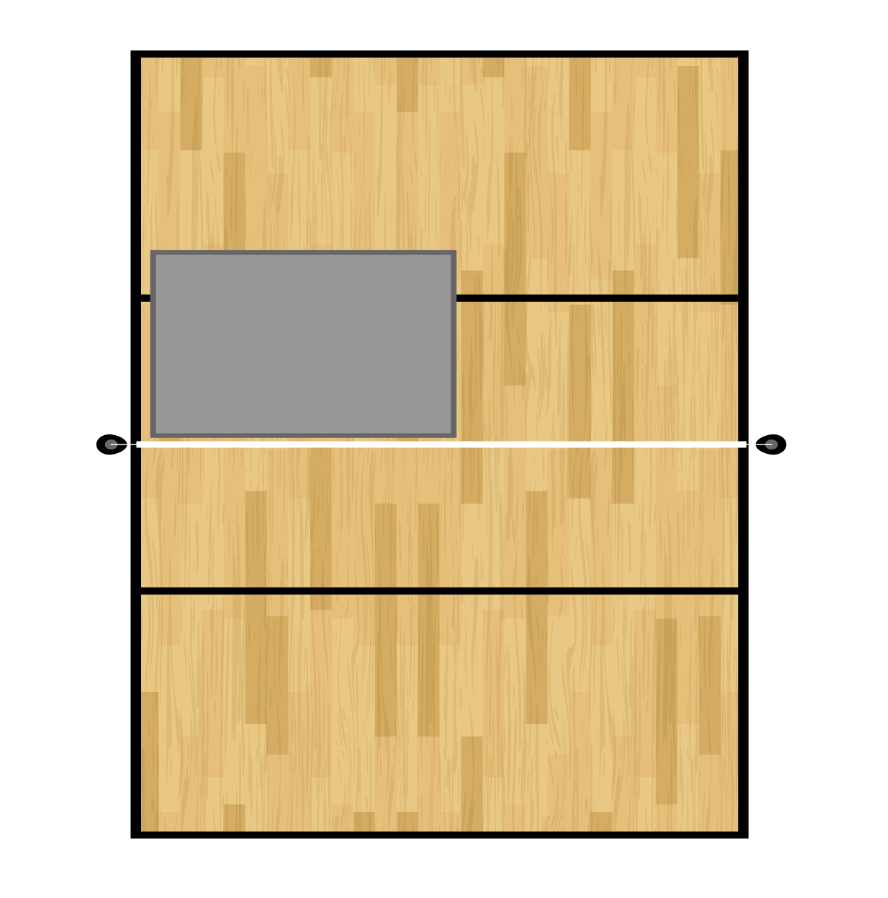 Volley7 (12' x 15' --> 6' x 33')